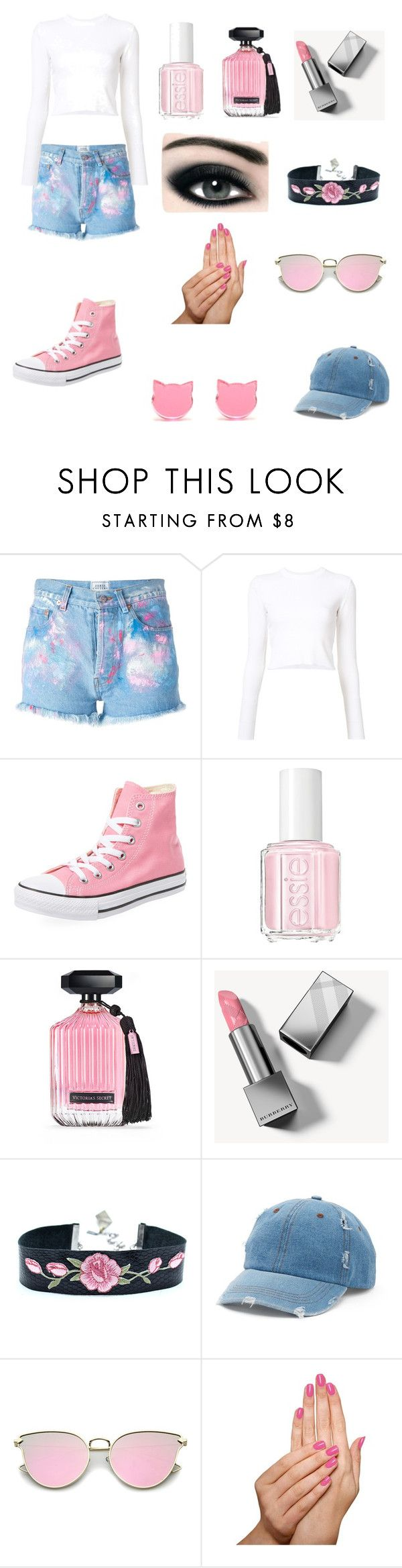 """Untitled #14"" by kh03229 ❤ liked on Polyvore featuring Forte Couture, Proenza Schouler, Converse, Essie, Victoria's Secret, Burberry, Max Factor, Mudd and Piggy Paint"