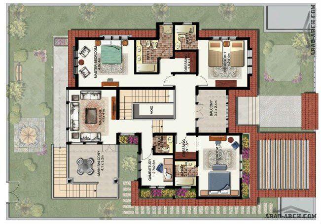 خرائط فلل بوابة الشرق 3 روعة التصميم الداخلي والخارجي Arab Arch Architectural House Plans House Layout Plans House Layouts