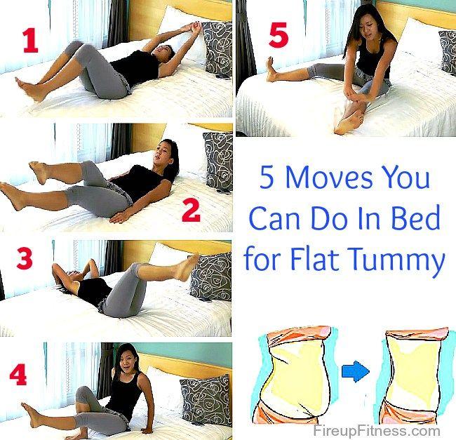 5 movimientos que puede hacer en su cama Para tener la panza Flut