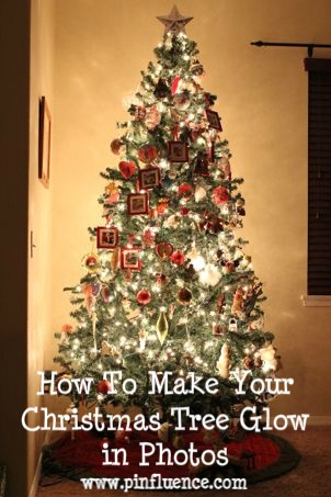 How to make your christmas tree glow in photos