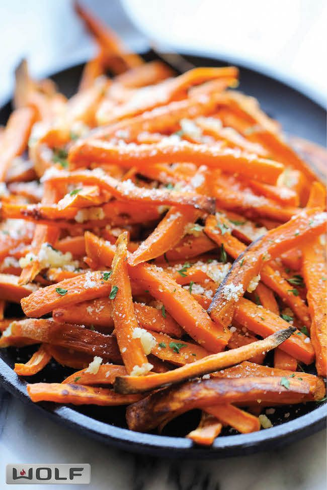 Garlic Sweet Potato Fries | Recipe | Potato Fry, Potatoes and Garlic ...