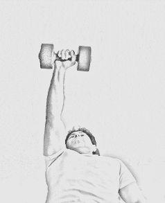 Entrenamiento con pesas 1: Press de banca con agarre cerrado Acostado, se sostiene una barra con pesas por arriba del pecho colocando las manos aproximadamente en línea recta con los lados de la cara (agarre cerrado). Luego se eleverá la barra hasta tener...