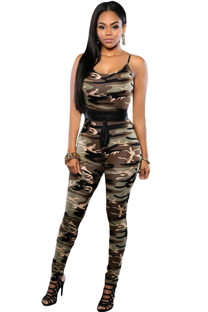 Chasubles & Grenouilleres Camo Militaire Impression Amenagee Jumpsuit –…