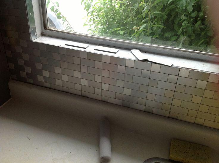 Stainless Steel mosaic back splash
