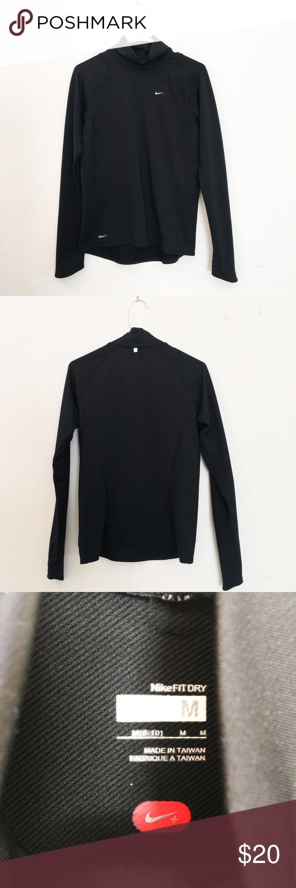 Nike Dri Fit Top For the serious sporty girl! This is an amazing winter pull-over by Nike. The end of the sleeves can pull-over to cover your fingers! Very simple but effective. Great price but open to reasonable offers! Nike Tops Sweatshirts & Hoodies