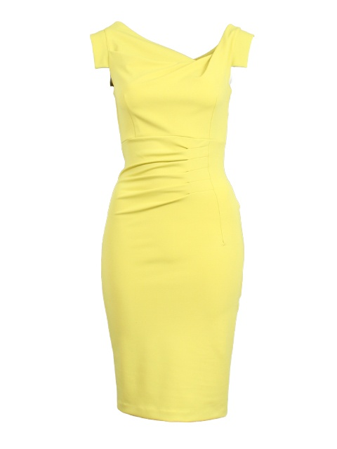 Gele jurk met plooi