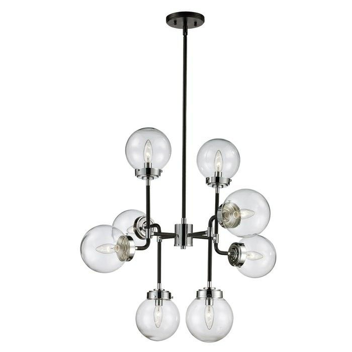 Bel Air Lighting Celestial Polished Chrome And Black Pendant