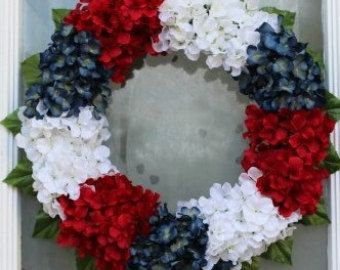 4th of July wreath by CelinesCreationss on Etsy