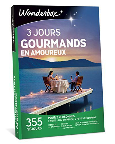 WONDERBOX – Coffret cadeau – 3 JOURS GOURMANDS EN AMOUREUX: Une escapade champêtre et gourmande en amoureux, ça vous tente? Alors…