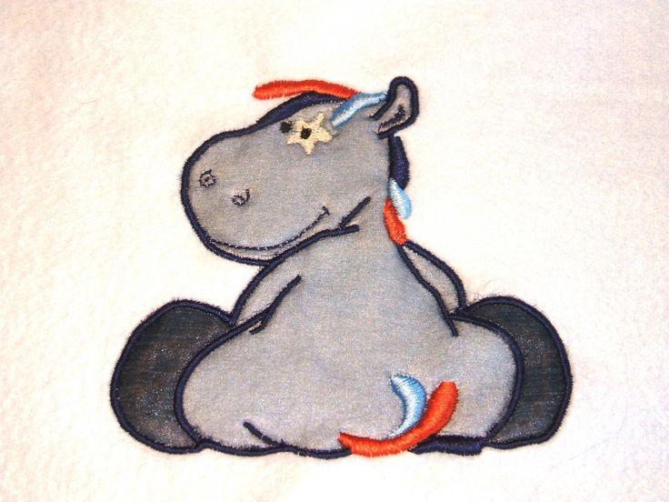 broderie fichier pes doudou petit ane bleu : Jeux, peluches, doudous par be-a-zen-broderie