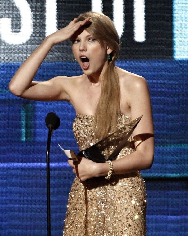 Always so surprised that she won...and that Kanye would interrupt her.  Taylor Swift makes an appearance on #MotherNaturesMaid.