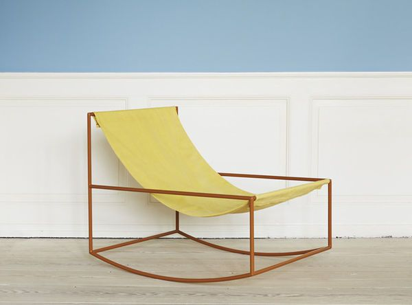 The First Rocking Chair by Muller Van Severen is Colorful and Minimalist #hammocks trendhunter.com
