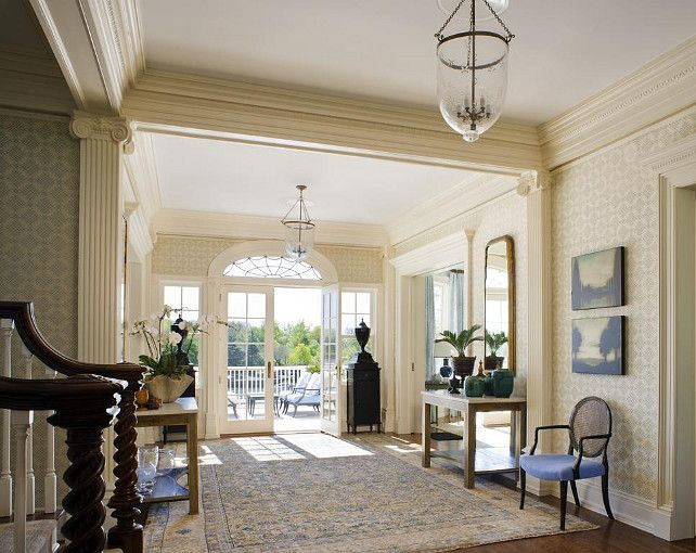Attractive View This Great Traditional Hallway With Transom Window U0026 French Doors In  Rye, NY. The Home Was Built In 1900 And Is 8280 Square Feet. Pictures Gallery