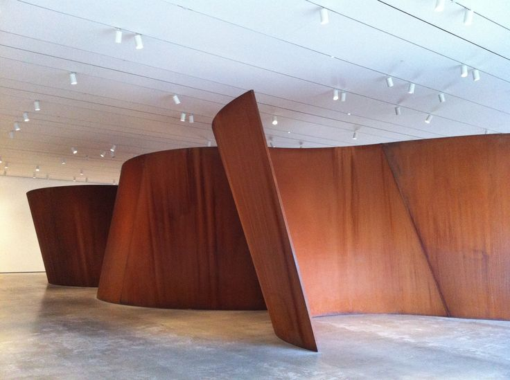 richard serra sculpture | Richard Serra, 2006, sculpture steel, 153 x 846 x 440 in, plate ...