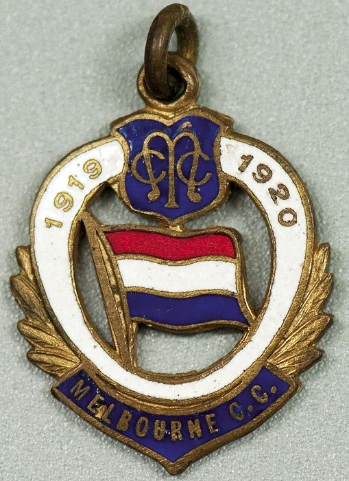 MELBOURNE CRICKET CLUB, 1919-20 membership badge, made by C.Bentley, No.283.
