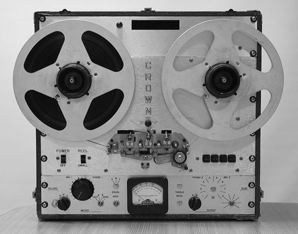 Crown reel to reel tape recorder of Dr. 'Crazy' Joe Tritschler