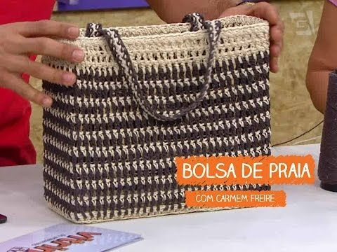 Bolsa de Praia Quadrada - Carmem Freire | Vitrine do Artesanato na TV - Gazeta - YouTube