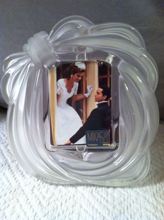 vintage mikasa crystal love knot weddinganniversiary frame