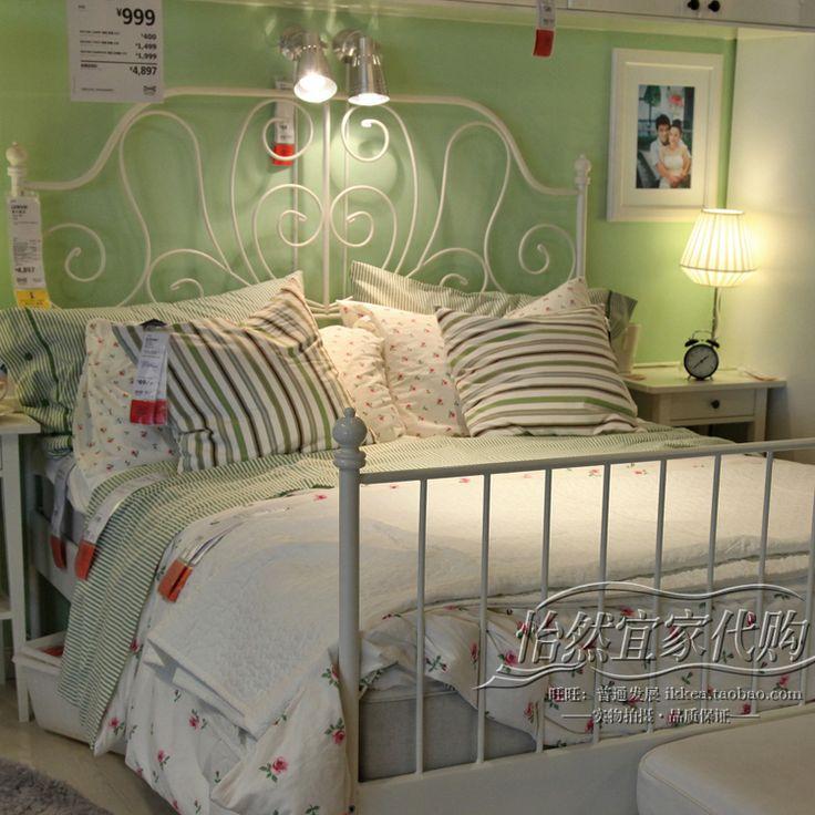 Ikea White Metal Bed Frame Drawing In 2019 White Metal