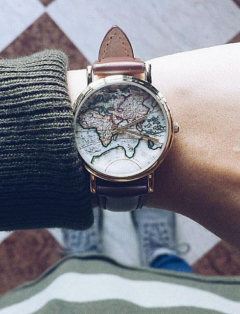 Map of World Globe Watch #fashion #style