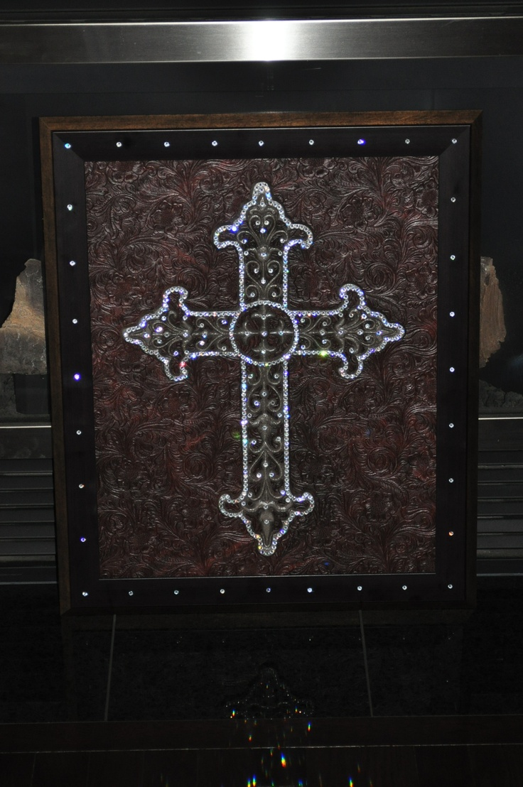 Another crystal cross I framed.