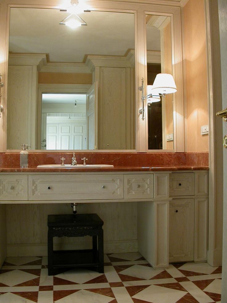 Lovely bathroom solution in bleached oak