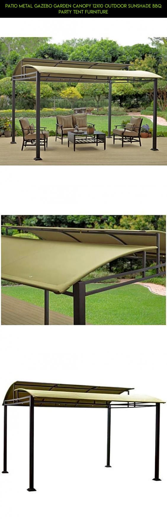 Patio Metal Gazebo Garden Canopy 12x10 Outdoor Sunshade Bbq Party Tent Furniture #technology #furniture #patio #gazebo #racing #tech #fpv #parts #kit #products #camera #shopping #drone #plans #gadgets