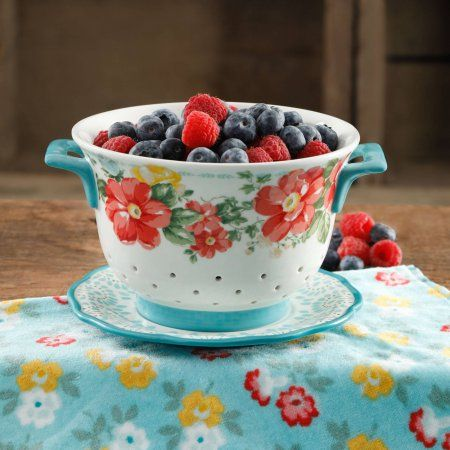 Free 2-day shipping on qualified orders over $35. Buy The Pioneer Woman Flea Market 5-Quart Ceramic Colander at Walmart.com