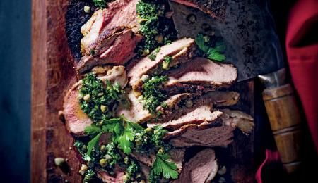 A great way to make half a leg of lamb feed a hungry crowd.