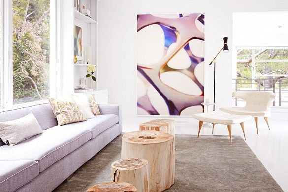 wall art....Tour a Celebrity Photographer's Airy Midcentury L.A. Home via @mydomaine
