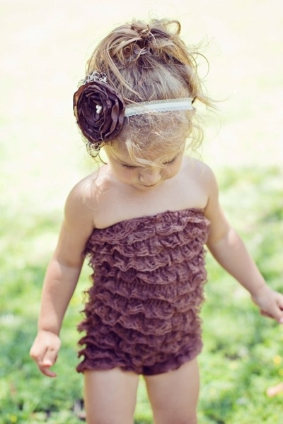 don't know how i feel about toddlers in strapless, but it's cute.
