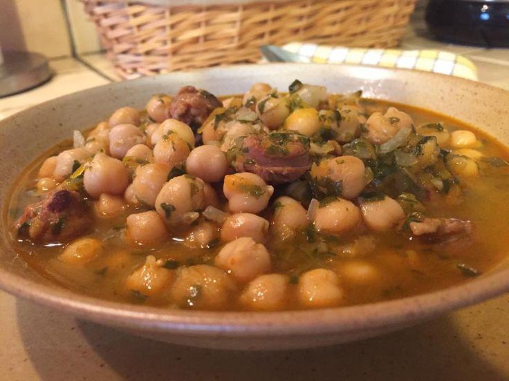 Garbanzos con espinacas y longaniza, receta a la chilena - Fran is in the Kitchen