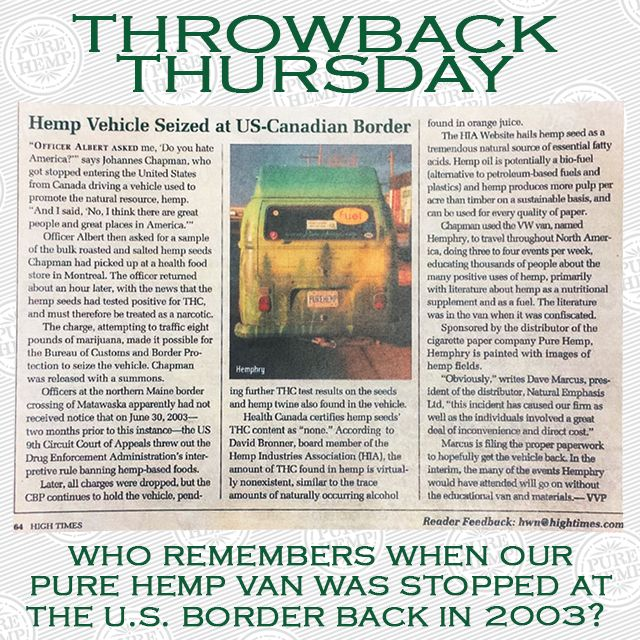 We Do! That Was A Long Time Ago And So Much Has Changed For The Better With Our Industry... How Long You Been In The #Hemp Game? #EverSince #PureHemp #RollYourOwn