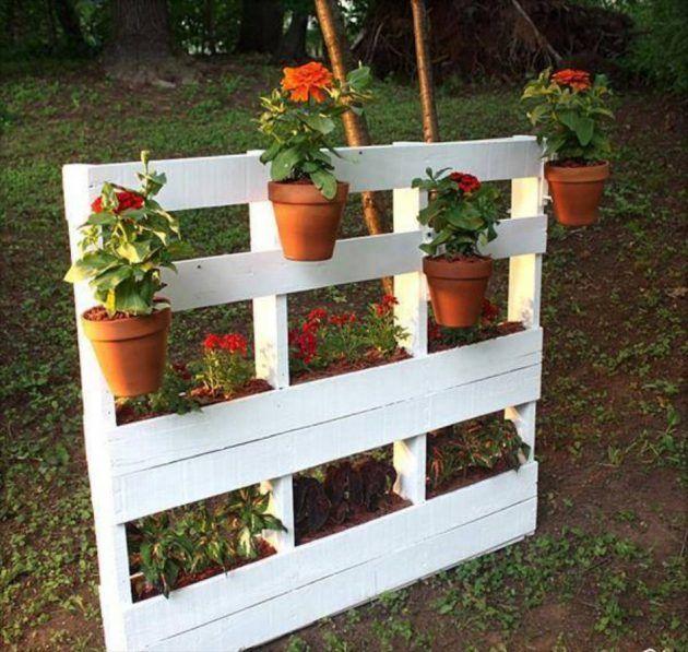 M s de 20 ideas incre bles sobre jardineras con palets en - Jardineras con palets ...