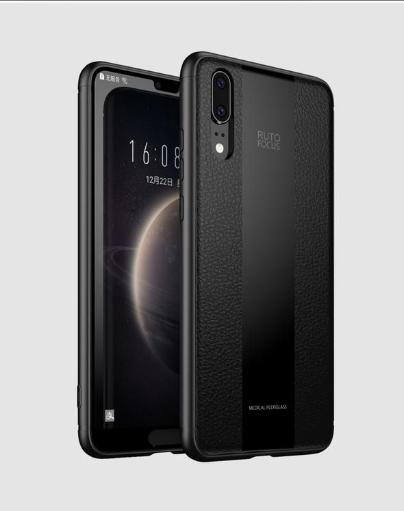 reputable site ddc13 bbbe9 Luxury Silicone TPU + Plexiglass 2 in 1 For Huawei P20 Pro & Huawei ...