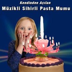 Kendinden açılan müzikli sihirli pasta mumu !