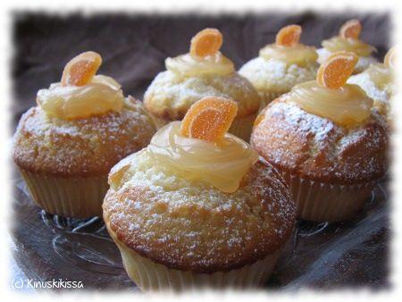 Sitruuna-inkivääri muffinsit #muffinsit #leivonta #pääsiäinen #kevyt #herkku #resepti