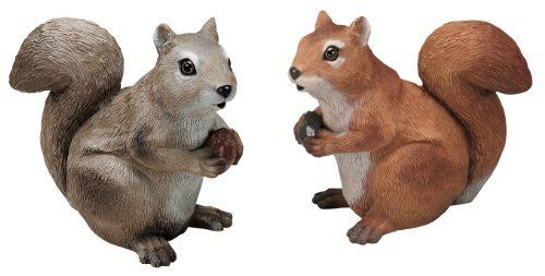 Sculptural Gardens 3624 Squirrel Statuary, Set of 2 by Sculptural Gardens by Heritage Farms. $38.88. Beautifully hand decorated outdoor sculpture. Realistic Eye parts. Durable all-weather material resists breakage. Filled for added weight and stability. Set of two. Beautifully hand decorated squirrel statuary for your yard or garden. Set of two.
