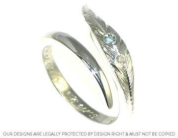 native wedding rings | native American Indian feather inspired design ~ Harriet Kelsall ...