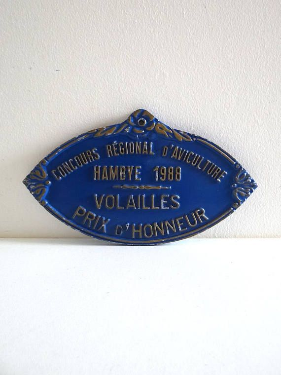 French Agricultural Prize Plaque from 1988 Normandy Poultry