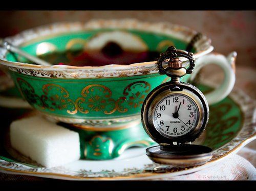BB: Tea Party, Tea Time, Teaparty, Clock, Green, Teas, Tea Cups, Teacups, Teatime
