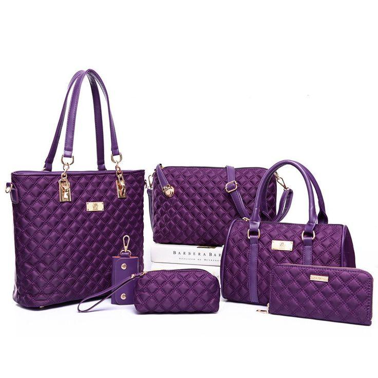 Crossbody Bags Ladies Tote Wallet 6 Sets Handbags