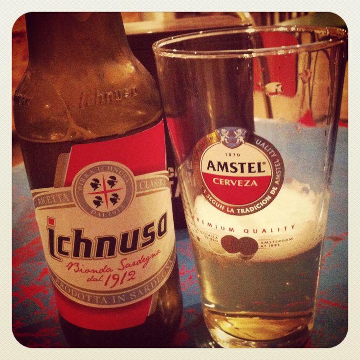 Cerveza italiana en copa de Amstel #desencuentros