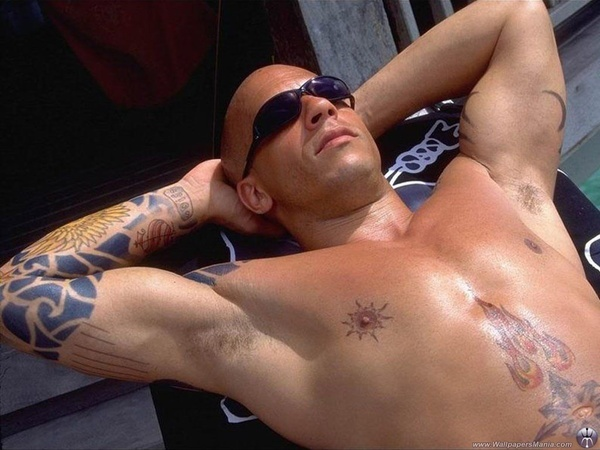 Vin Diesel Actual Tattoos