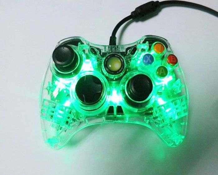 Wired Controller with LED Light game for Xbox 360