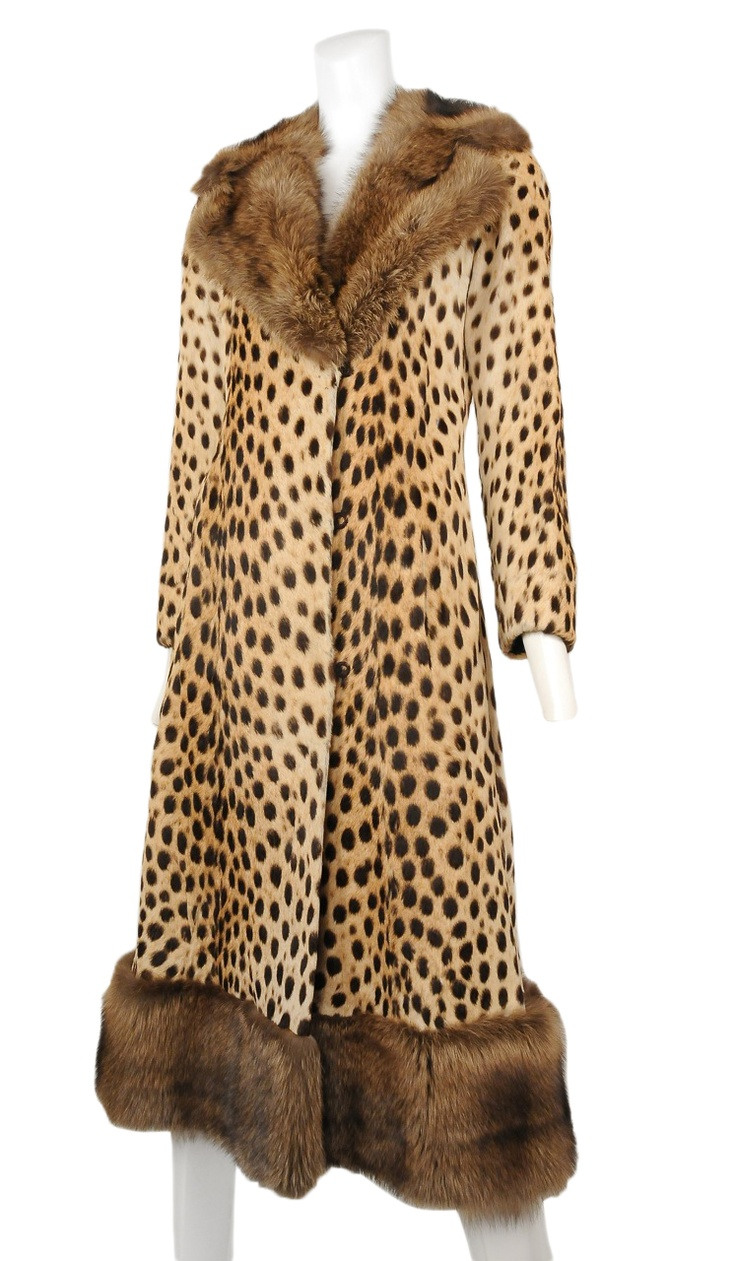 Vintage Donald Brooks Leopard & Sable Coat.