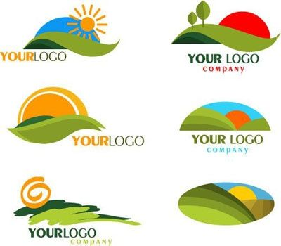 Landscape logos that almost appear to be inspired by cutting out ...