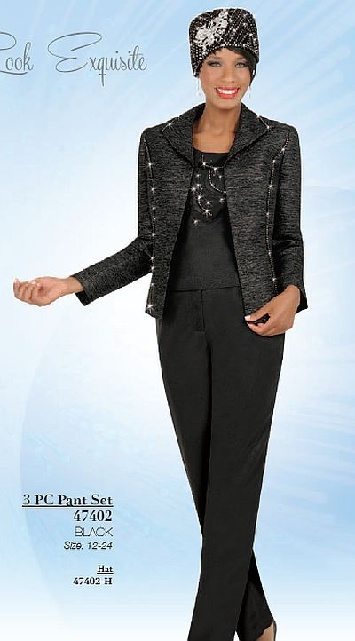 womens formal after five pant suits | Ben Marc 47402 Womens Dressy Pant Suit image