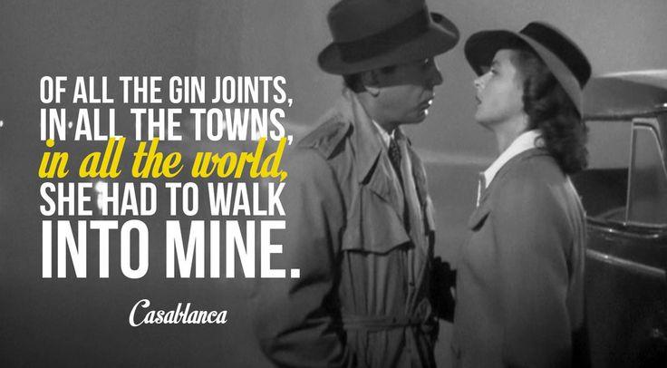 Romantic Movie Quotes: Casablanca Quotes On Pinterest. 100+ Inspiring Ideas To