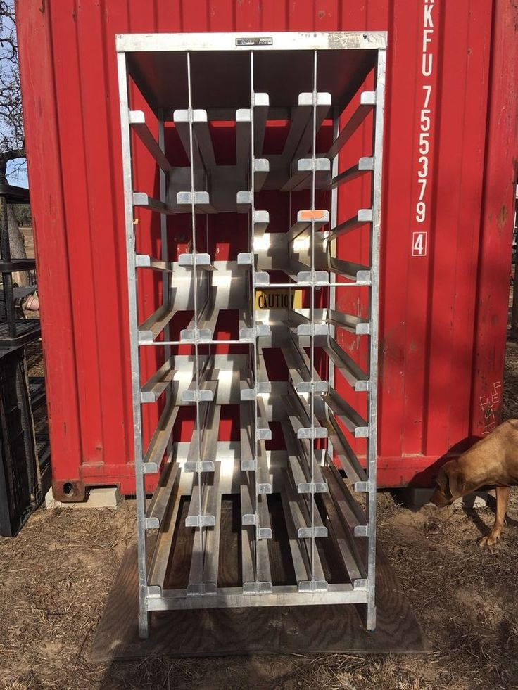Aluminum Restaurant Stationary Can Rack - Eastern Steel Rack Co. #EasternSteelRackCo